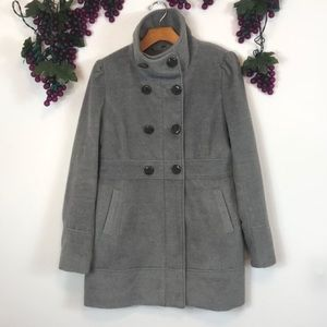 Guess light gray double breasted military coat